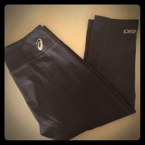 Charcoal ASICS workout leggings - Capri length